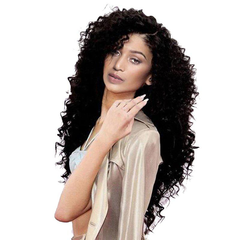 Long Side Parting Bouffant Deep Wave Synthetic WigHAIR<br><br>Color: BLACK; Type: Full Wigs; Cap Construction: Capless; Style: Deep Wave; Material: Synthetic Hair; Bang Type: Side; Length: Long; Length Size(CM): 75; Weight: 0.3500kg; Package Contents: 1 x Wig;