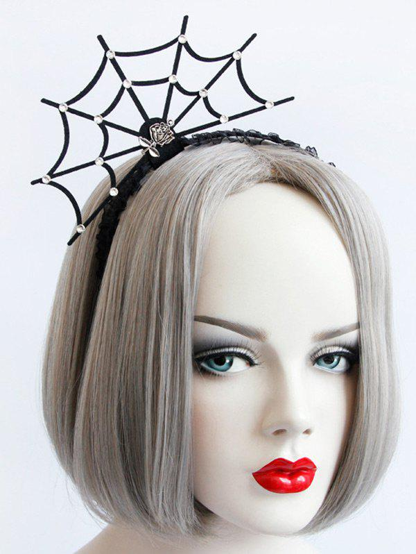 Sale Spider Web Rose Halloween Lace Hairband