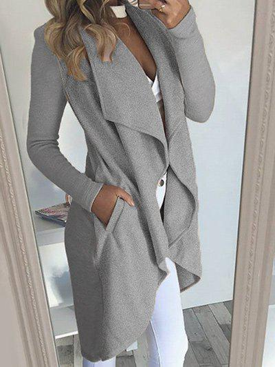 Outfits Draped Coat with Pocket