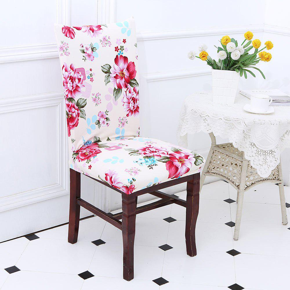 Peony Pattern Stretch Elastic Removable Chair CoverHOME<br><br>Color: COLORFUL; Type: Chair Cover; Material: Polyester; Pattern Type: Floral; Weight: 0.1200kg; Package Contents: 1 x Chair Cover;