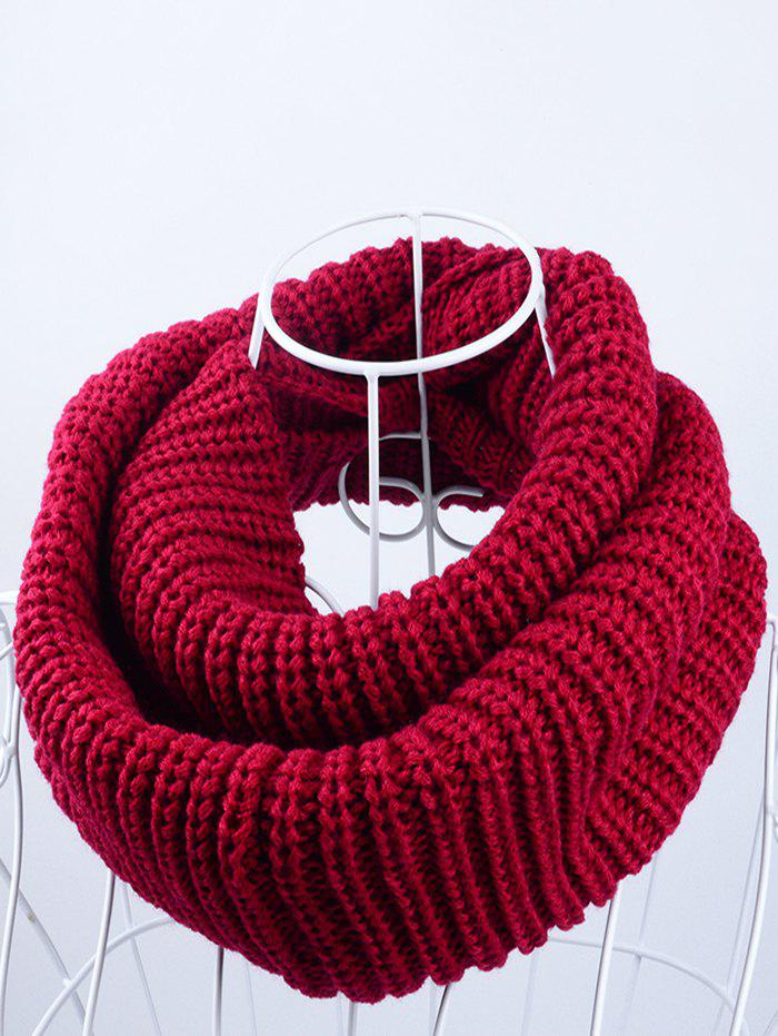 2018 Outdoor Chunky Infinity Scarf Crochet Pattern In Dark Red