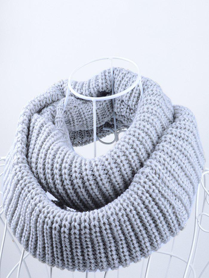 Outdoor Chunky Infinity Scarf Crochet PatternACCESSORIES<br><br>Color: GRAY; Scarf Type: Scarf; Scarf Length: 100-135CM; Group: Adult; Gender: Unisex; Style: Fashion; Material: Acrylic; Season: Fall,Spring,Winter; Scarf Width (CM): 30CM; Length (CM): 60CM; Weight: 0.1450kg; Package Contents: 1 x Scarf;