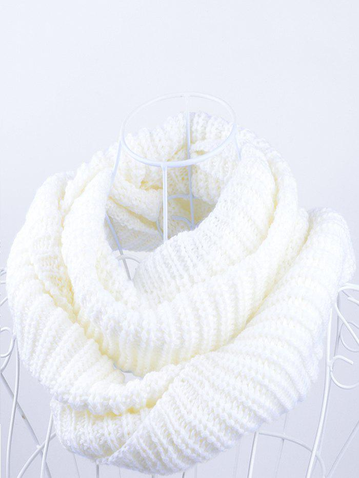 Outdoor Chunky Infinity Scarf Crochet PatternACCESSORIES<br><br>Color: WHITE; Scarf Type: Scarf; Scarf Length: 100-135CM; Group: Adult; Gender: Unisex; Style: Fashion; Material: Acrylic; Season: Fall,Spring,Winter; Scarf Width (CM): 30CM; Length (CM): 60CM; Weight: 0.1450kg; Package Contents: 1 x Scarf;