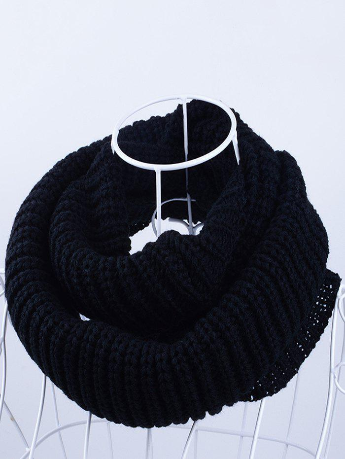 Outdoor Chunky Infinity Scarf Crochet PatternACCESSORIES<br><br>Color: BLACK; Scarf Type: Scarf; Scarf Length: 100-135CM; Group: Adult; Gender: Unisex; Style: Fashion; Material: Acrylic; Season: Fall,Spring,Winter; Scarf Width (CM): 30CM; Length (CM): 60CM; Weight: 0.1450kg; Package Contents: 1 x Scarf;