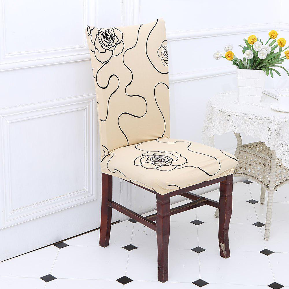 Hot Rose Pattern Stretch Elastic Chair Cover
