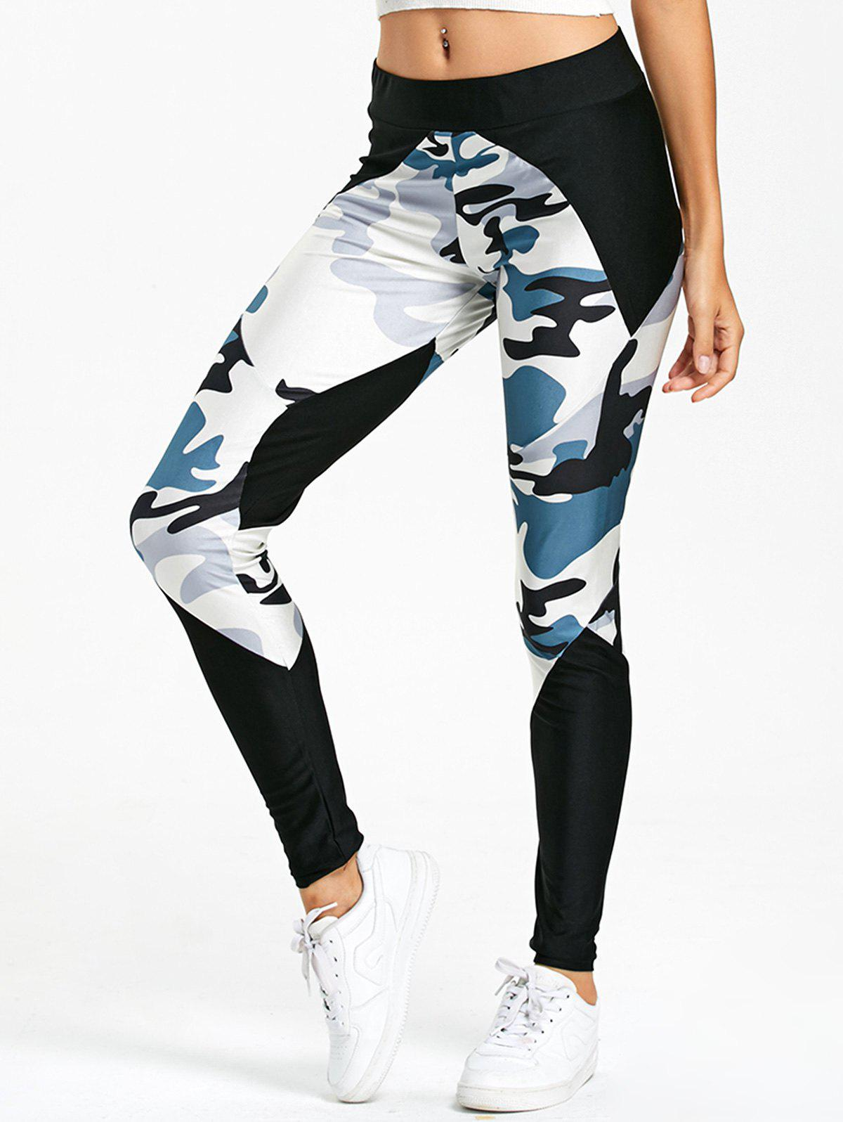Trendy Camo Insert Leggings