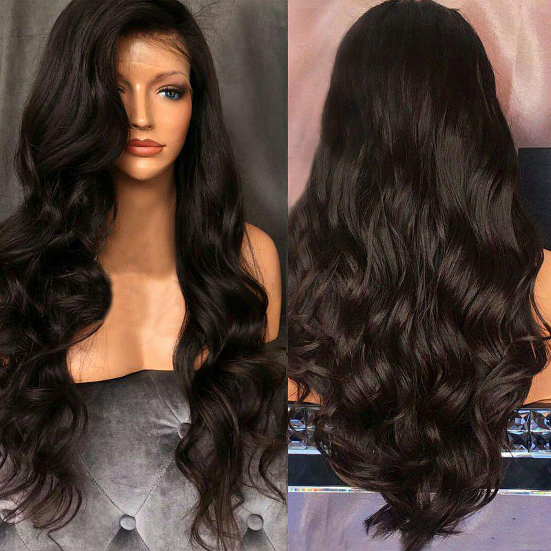 Long Free Part Shaggy Body Wave Lace Front Synthetic Wig