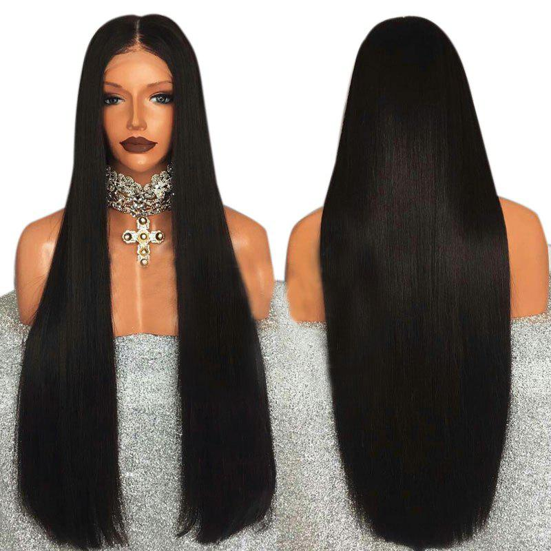 Buy Ultra Long Middle Part Straight Synthetic Lace Front Wig