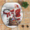 Nonslip Father Christmas and Snowman Pattern 3Pcs Bathroom Mats Set -