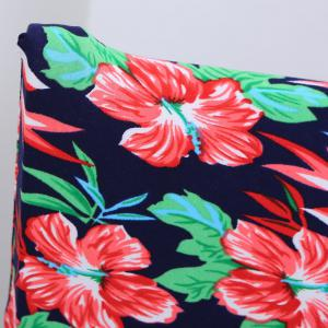 Removable Flowers Printed Stretch Elastic Chair Cover -