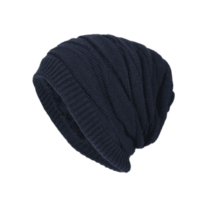 Soft Stacking Stripe Baggy Knitted Beanie -