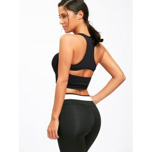 Removable Padded Sports Cutout Racerback Bra -
