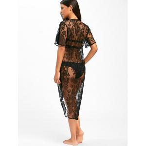 Lace Midi Swimwear Cover Up - Noir S