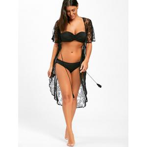 Lace Midi Swimwear Cover Up - Noir M