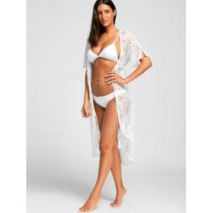 Lace Midi Swimwear Cover Up - Blanc M