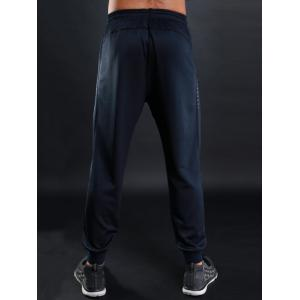 Sports Casual Zip Pocket Jogher Pants - Bleu L