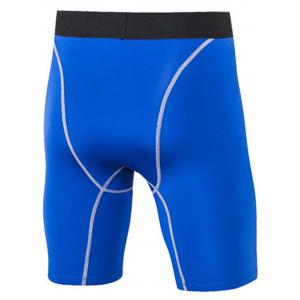 Quick Dry Stretchy Fitted Fitness Jammer Shorts - BLUE 3XL