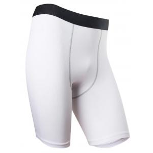 Quick Dry Stretchy Fitted Fitness Jammer Shorts - WHITE 3XL