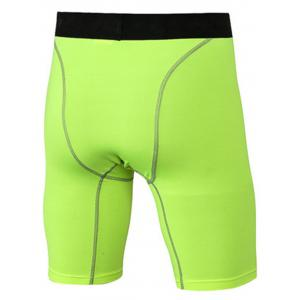 Quick Dry Stretchy Fitted Fitness Jammer Shorts - NEON GREEN 3XL