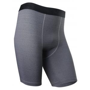 Quick Dry Stretchy Fitted Fitness Jammer Shorts - HEATHER GRAY 3XL
