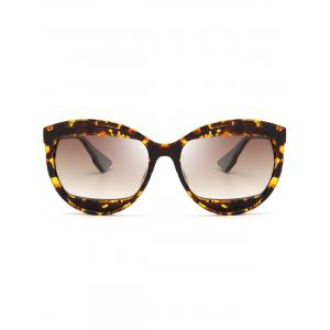 Eyebrow Embellished Cat Eye Sunglasses - TEA-COLORED