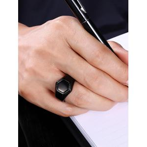 Alloy Circle Hexagram Finger Ring -