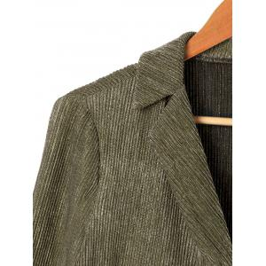Lapel Long Sleeve One Button Blazer -
