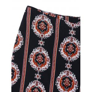 Tribal Print Mini Asymmetric Wrap Skirt -
