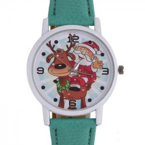 Christmas Deer Santa Face Quartz Watch -