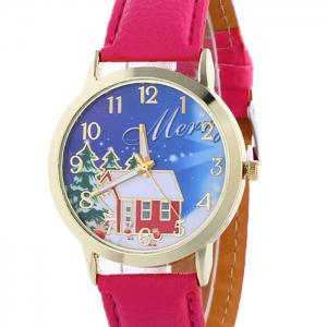 Christmas Tree House Face Quartz Watch - TUTTI FRUTTI