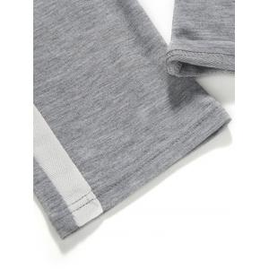 Side Stripe Design Drawstring Sweatpants - Gris Clair XL