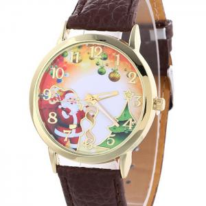Christmas Santa Baubles Face Quartz Watch -
