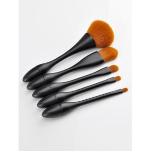5 Pieces Slim Waist Makeup Brush Set - BLACK