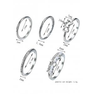 Ensemble Ring Ring - Argent