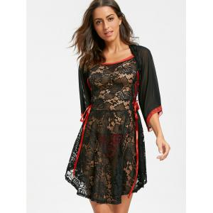 Robe Lace See By Lingerie - Noir S