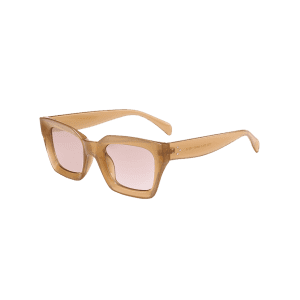 Outdoor UV Protection Full Frame Square Sunglasses - LIGHT COFFEE