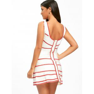 A-line Contrast Wavy Stripe Bandage Dress -
