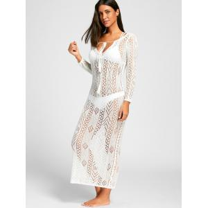 Plunge Boho Cover Up Dress -