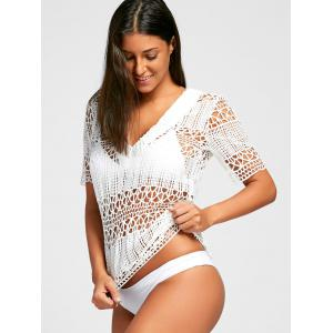 Plunge Crochet Cover Up Top -