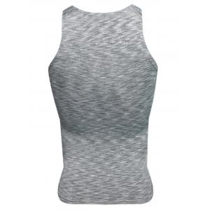 Quick Dry Openwork Panel Fitted Fitness Vest -