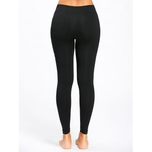 Leggings de Course Extensible à Lettre -