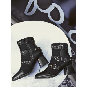 Chunky Chunky Multi Buckle Straps Bottes -