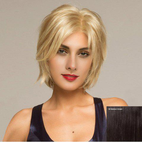 Short Side Parting Shaggy Straight Lace Front Hair Hair Wig