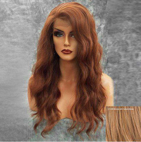 Long Side Bang Fluffy Naturel Ondulé Lace Front Hair Hair Wig