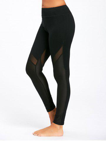 Shops Midi Waist Sheer Mesh Panel Workout Leggings