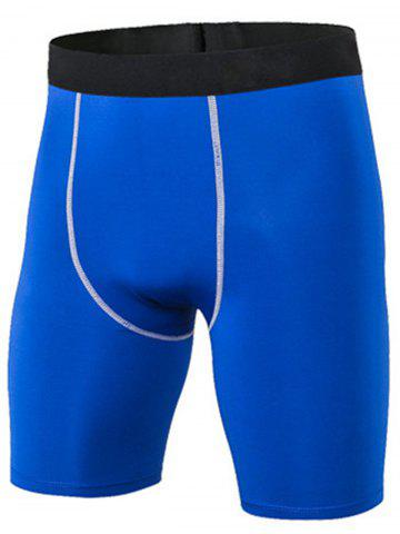 Outfit Quick Dry Stretchy Fitted Fitness Jammer Shorts BLUE 3XL