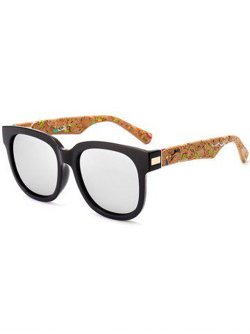 Online Full Frame Design Marble Grain Legs Mirror Sunglasses