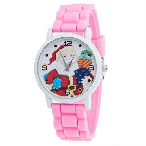 Sale Christmas Santa Gift Face Silicone Watch