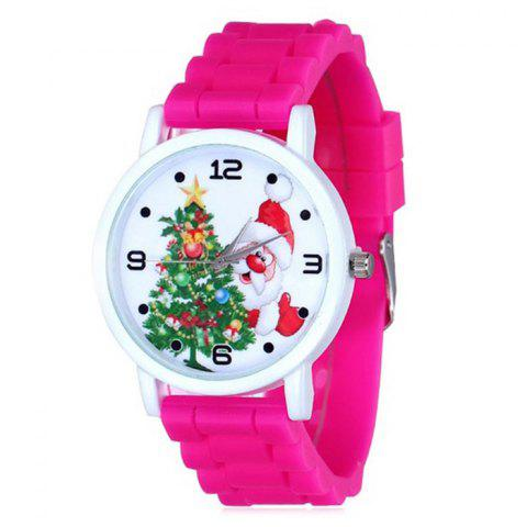 Outfits Christmas Tree Santa Face Silicone Strap Watch