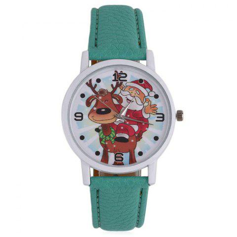 Affordable Christmas Deer Santa Face Quartz Watch